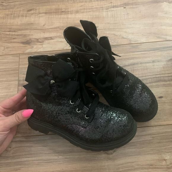 Jojo Siwa Black Glitter Boots